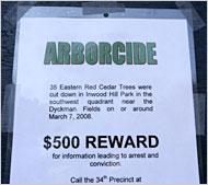 Arborcide Sign (Parks Dept. Sign/Inwood Hill Park)\'08