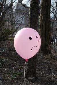 Sad Balloon - NYU Students\' Balloon Protest (03-13-08)