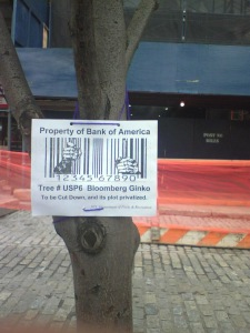 Privatized Trees at Union Square 4-25-08