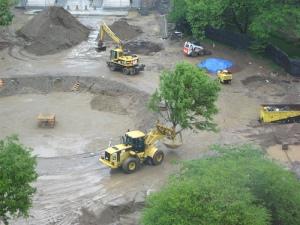 new fountain hole at washington sq park