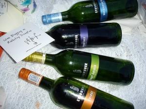 wine bottle picnic at bryant park