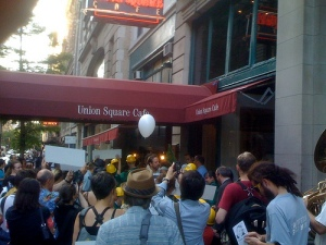 Outside Union Sq Cafe July 2nd