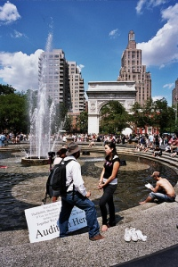 summer '07, the fountain, washington square park