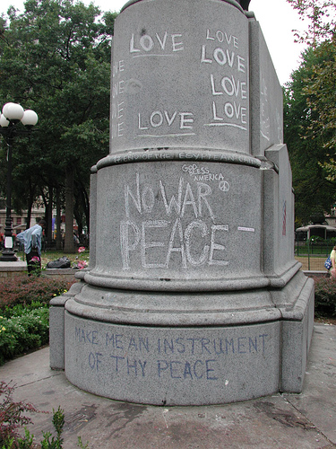 Union Sq Park, Sept. 2001