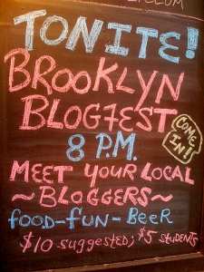 Brooklyn BlogFest Sign * May 2008