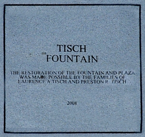 """Tisch"" Fountain Plaque"