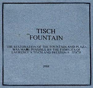 """""""Tisch"""" Fountain Plaque"""