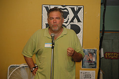 Robert Guskind at Bklyn bloggers' meeting, Vox Pop 2007